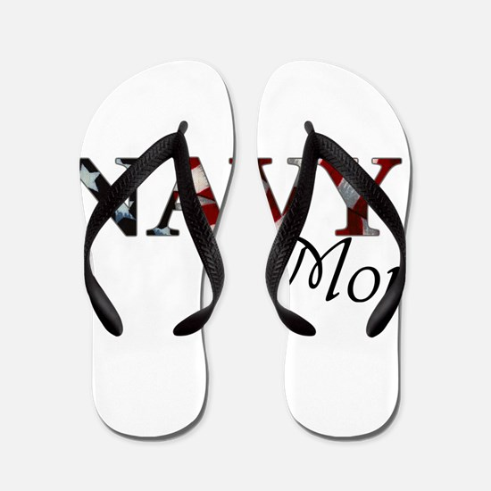 Mom Navy/Flag Flip Flops