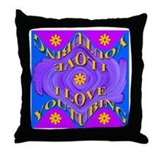 I Love YouTubing Throw Pillow