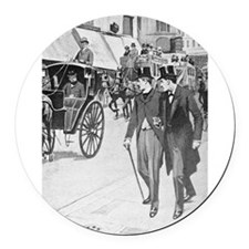 Sherlock Holmes illustrations Round Car Magnet