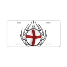 tribal England (T).png Aluminum License Plate