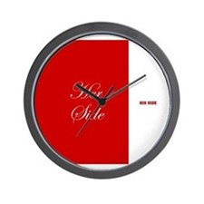 His Side Her Side 4 red Wall Clock