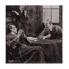 Skerock Holmes illustrations Tile Coaster