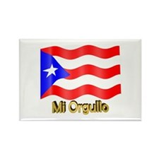 Bandera de Puerto Rico Rectangle Magnet