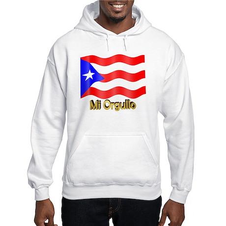 Bandera de Puerto Rico Hooded Sweatshirt