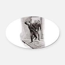 Skerock Holmes illustrations Oval Car Magnet