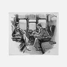 Skerock Holmes illustrations Throw Blanket