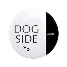 "dog side 8 black white 3.5"" Button (100 pack)"