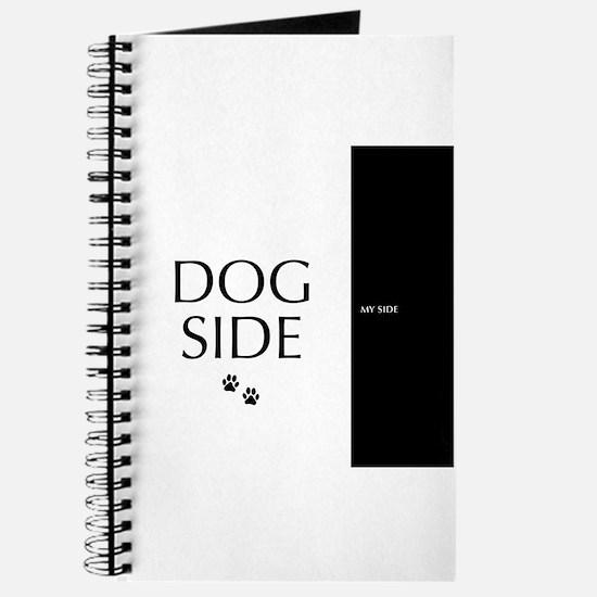 dog side 8 black white Journal