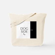 dog side 8 black white Tote Bag