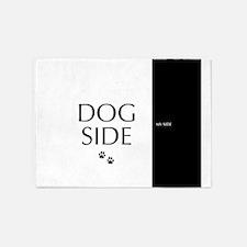 dog side 8 black white 5'x7'Area Rug