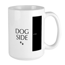 dog side 8 black white Mugs