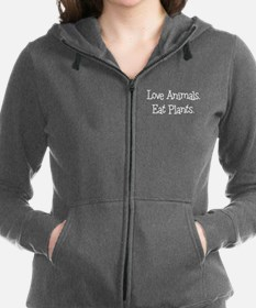 Love Animals Eat Plants Women's Zip Hoodie