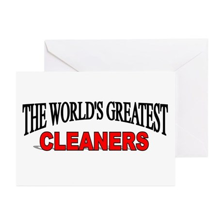 """The World's Greatest Cleaners"" Greeting Cards (Pa"
