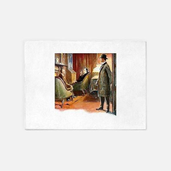 Skerock Holmes illustrations 5'x7'Area Rug