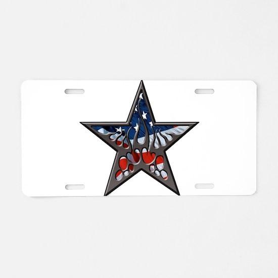 American flaming star.png Aluminum License Plate