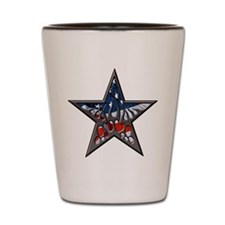 American flaming star.png Shot Glass
