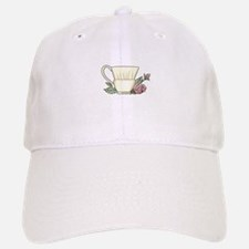 Coffee Cup And Rose Baseball Baseball Baseball Cap