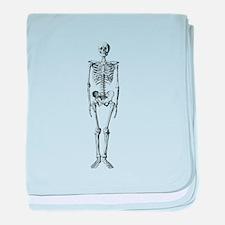 skeleton baby blanket