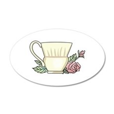 Coffee Cup And Rose Wall Decal