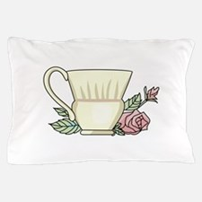 Coffee Cup And Rose Pillow Case
