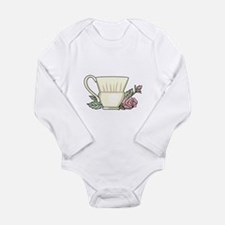 Coffee Cup And Rose Body Suit