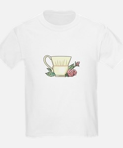 Coffee Cup And Rose T-Shirt