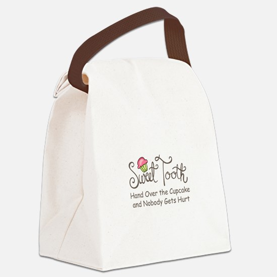 Sweet Tooth Canvas Lunch Bag