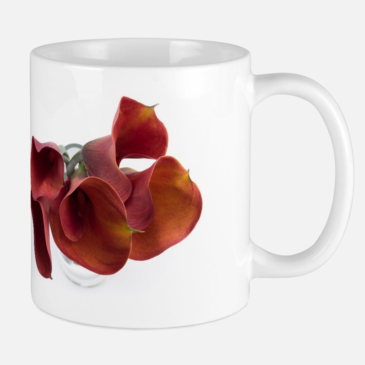 Dark red callas Mug
