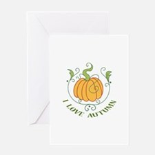 I LOVE AUTUMN Greeting Cards