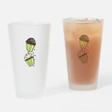 Cup Cakes Drinking Glass