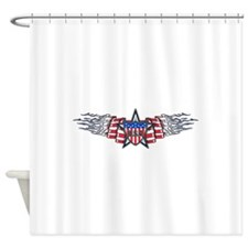 American Flame (T).png Shower Curtain