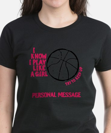 Personalized Basketball Girl Tee