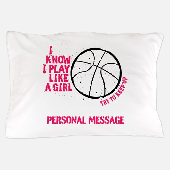 Personalized Basketball Girl Pillow Case
