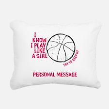 Personalized Basketball Rectangular Canvas Pillow