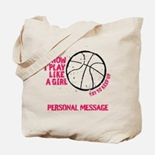 Personalized Basketball Girl Tote Bag
