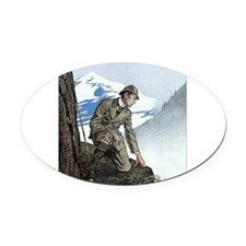 Skerock Holmes illustrations Oval Car Magnet