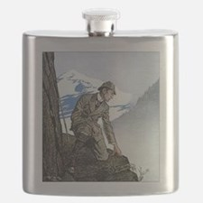 Skerock Holmes illustrations Flask