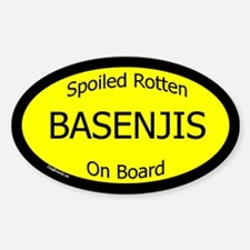 Spoiled Basenjis On Board Oval Decal
