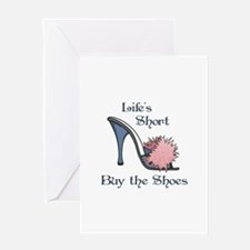 BUY THE SHOES Greeting Cards