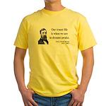 Henry David Thoreau 1 Yellow T-Shirt