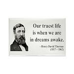 Henry David Thoreau 1 Rectangle Magnet (100 pack)