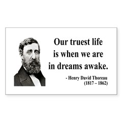 Henry David Thoreau 1 Rectangle Decal