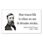 Henry David Thoreau 1 Rectangle Sticker