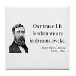 Henry David Thoreau 1 Tile Coaster