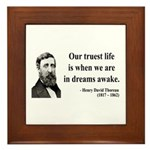 Henry David Thoreau 1 Framed Tile
