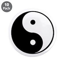 """yin yang 4 3000 3.5"""" Button (10 pack)"""