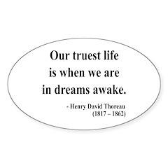 Henry David Thoreau 1 Oval Decal
