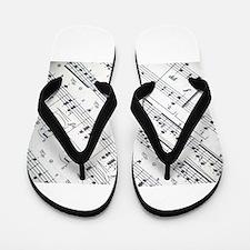 music notes Flip Flops