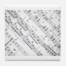 music notes Tile Coaster