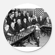 Samuel Reshevsky vs. The World Round Car Magnet